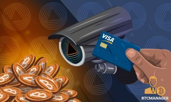 Security Camera Examining a Pile of Bitcoins