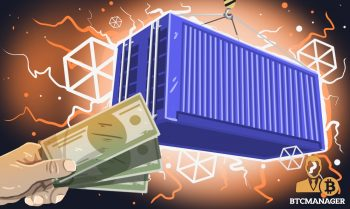 Ship container caetgo blue money