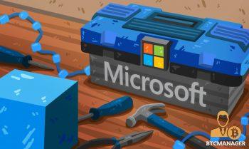 Microsoft Toolbox Hammer Blue Blockchain