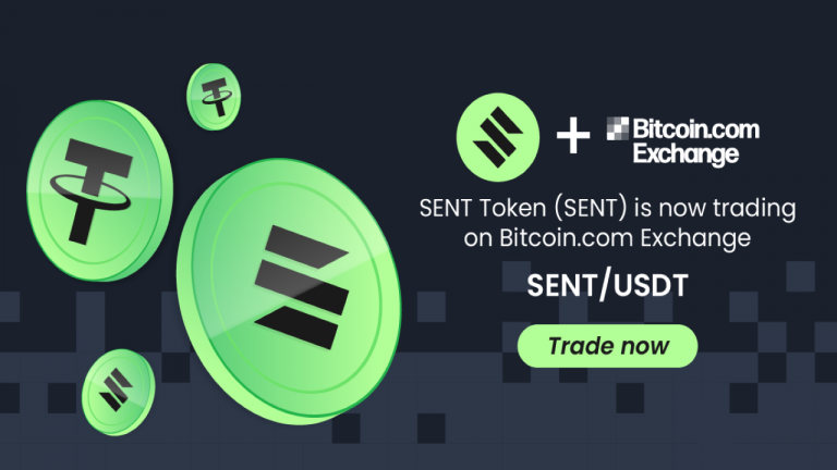 SENT Token Is Now Listed on Bitcoin.com Exchange