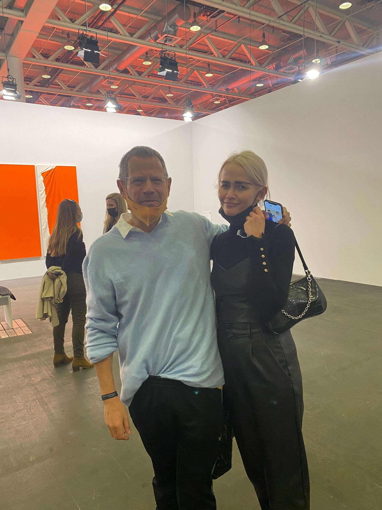 Olive Allen and artist, curator and critic Kenny Schachter (Dorian Batycka)